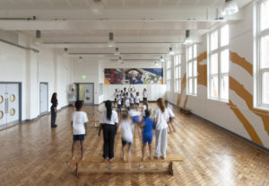 Game in school hall