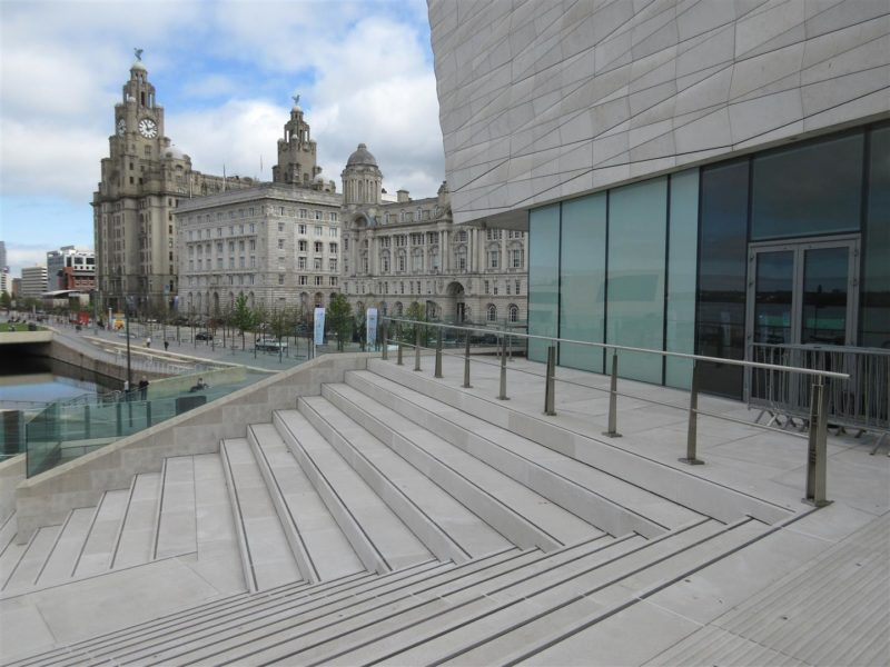 Museum of Liverpool amphitheatre steps and terraces remedial works